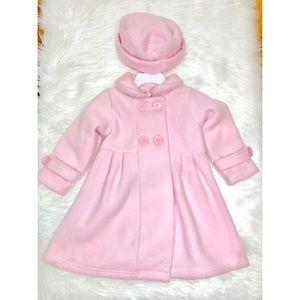 Girl's Powder Pink Coat Set!
